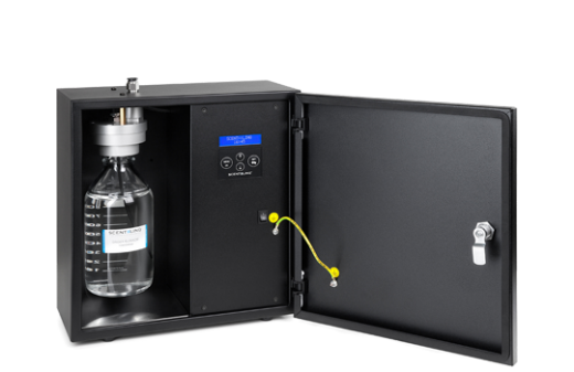 Professional scent machine for ventilation systems